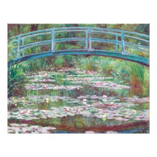 Claude Monet The Japanese Footbridge Flyer Design