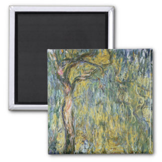 Claude Monet | The Large Willow at Giverny, 1918 Square Magnet