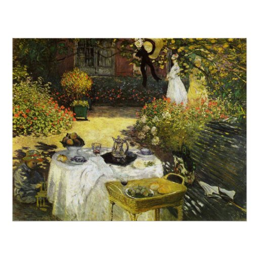 Claude Monet: The Lunch Poster