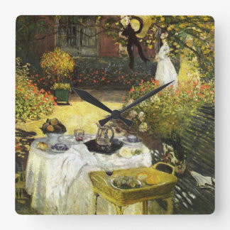 Claude Monet: The Lunch Square Wall Clock