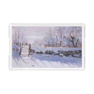 Claude Monet-The Magpie Acrylic Tray