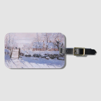 Claude Monet-The Magpie Luggage Tag