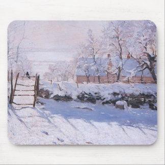 Claude Monet-The Magpie Mouse Pad