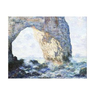 Claude Monet The Manneporte (Étretat) Canvas Print