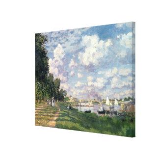 Claude Monet | The Marina at Argenteuil, 1872 Canvas Print