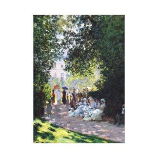 Claude Monet The Parc Monceau Canvas Print