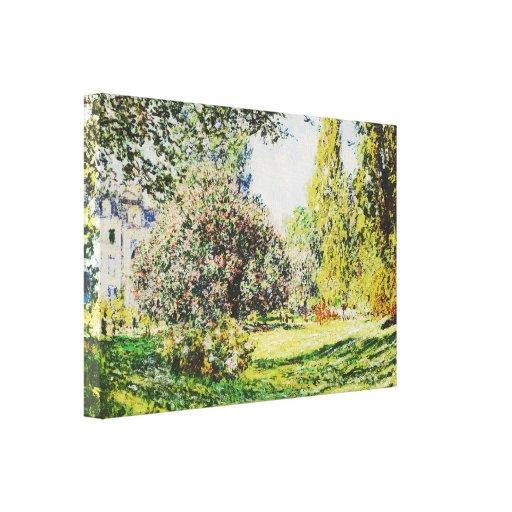 Claude Monet - The Park Monceau Canvas Prints