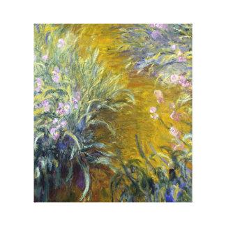 Claude Monet The Path through the Irises Canvas Print