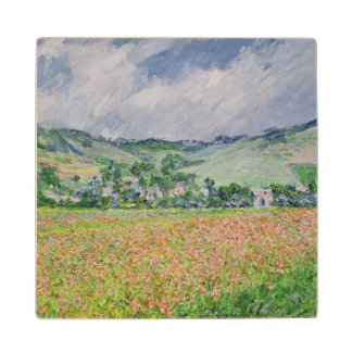 Claude Monet | The Poppy Field near Giverny, 1885 Wood Coaster