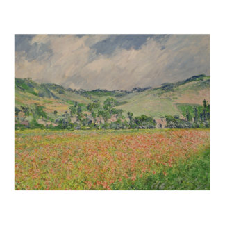 Claude Monet | The Poppy Field near Giverny, 1885 Wood Print