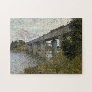 Claude Monet - The Railroad bridge in Argenteuil Jigsaw Puzzle