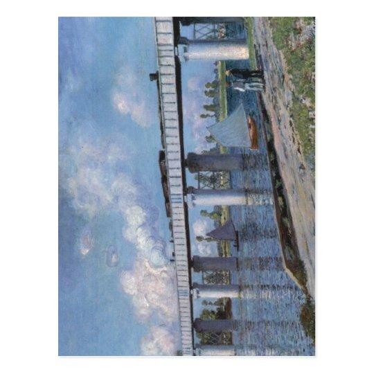 Claude Monet The Railway Bridge at Argenteuil 1873 Postcard