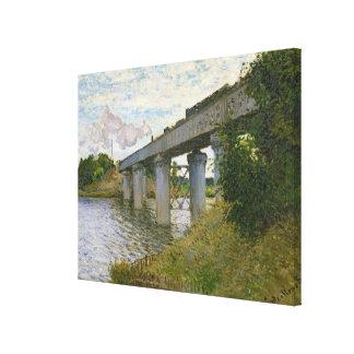 Claude Monet | The Railway Bridge at Argenteuil Canvas Print