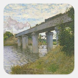 Claude Monet | The Railway Bridge at Argenteuil Square Sticker