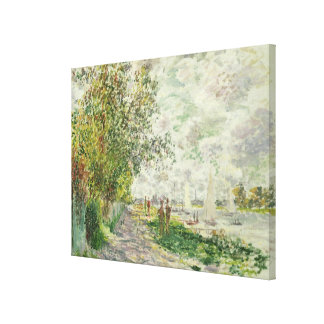 Claude Monet | The Riverbank at Gennevilliers Canvas Print