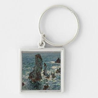 Claude Monet   The Rocks at Belle-Ile, 1886 Key Ring