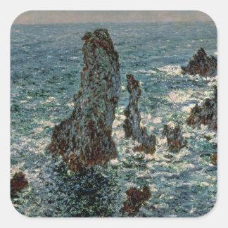 Claude Monet | The Rocks at Belle-Ile, 1886 Square Sticker