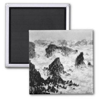 Claude Monet | The Rocks of Belle-Ile, 1886 Square Magnet