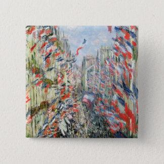 Claude Monet | The Rue Montorgueil, Paris 15 Cm Square Badge