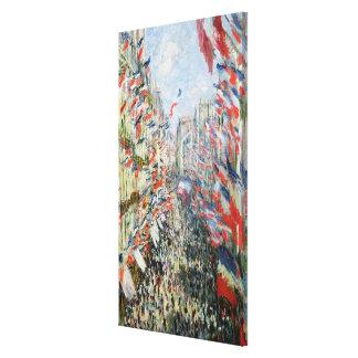 Claude Monet | The Rue Montorgueil, Paris Canvas Print