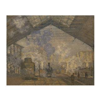 Claude Monet - The Saint-Lazare Station Wood Print