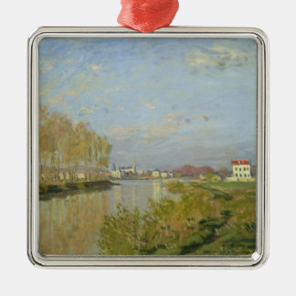 Claude Monet | The Seine at Argenteuil, 1873 Silver-Colored Square Decoration