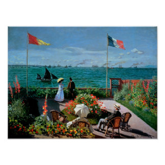 Claude Monet | The Terrace at Sainte-Adresse, 1867 Poster