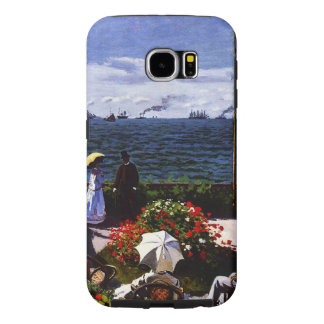 Claude Monet-The Terrace at Sainte-Adresse Samsung Galaxy S6 Cases