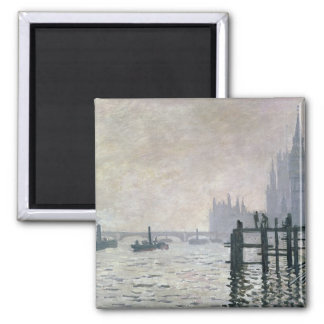 Claude Monet | The Thames below Westminster Square Magnet