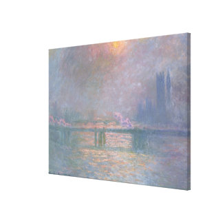 Claude Monet | The Thames with Charing Cross Canvas Print
