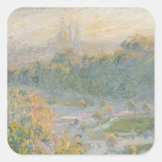 Claude Monet | The Tuileries  1875 Square Sticker