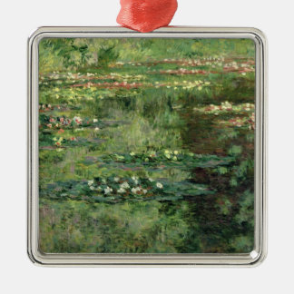 Claude Monet | The Waterlily Pond, 1904 Silver-Colored Square Decoration