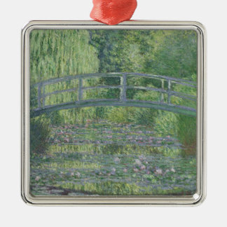 Claude Monet | The Waterlily Pond: Green Harmony Silver-Colored Square Decoration
