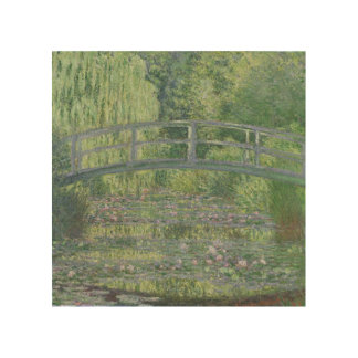 Claude Monet | The Waterlily Pond: Green Harmony Wood Canvases