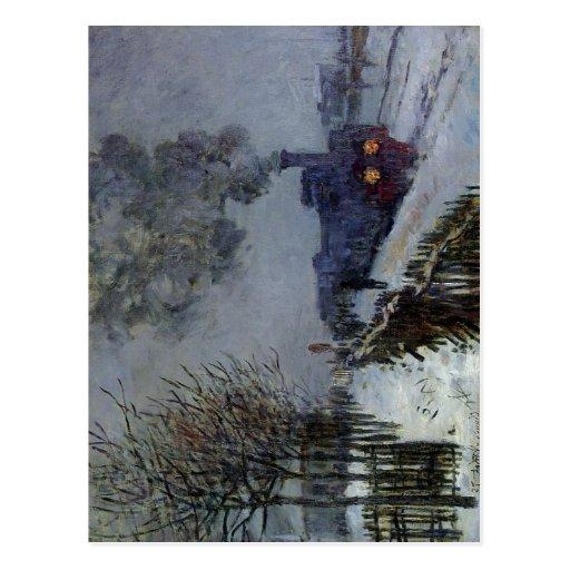 Claude Monet Train in the Snow 1875 Technique Oil  Post Cards