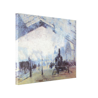 Claude Monet Train Station Gallery Wrapped Canvas