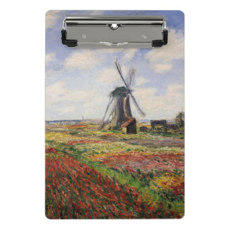 Claude Monet | Tulip Fields Rijnsburg Windmill Mini Clipboard