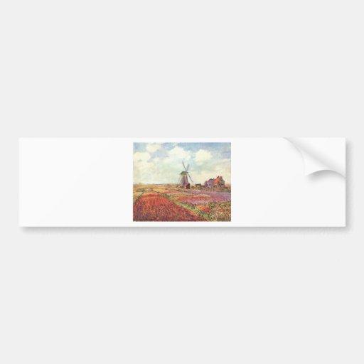 Claude Monet Tulips in Holland Bumper Stickers