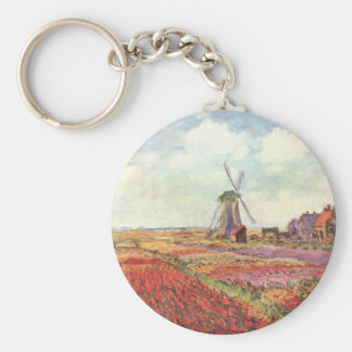 Claude Monet Tulips in Holland Key Ring