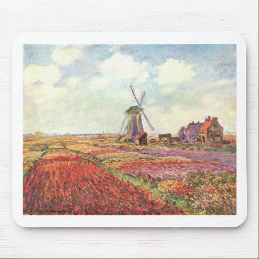 Claude Monet Tulips in Holland Mouse Pad