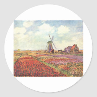 Claude Monet Tulips in Holland Stickers