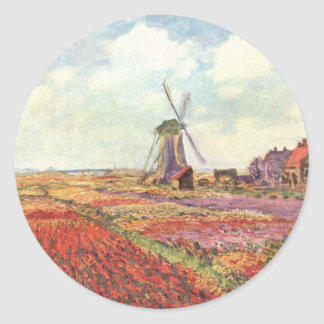 Claude Monet Tulips in Holland Sticker