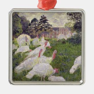 Claude Monet | Turkeys at Chateau de Rottembourg Christmas Ornament
