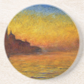 Claude Monet // Venice Twilight Beverage Coaster