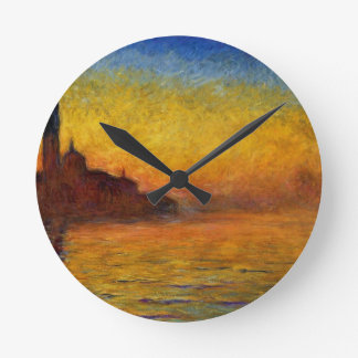 Claude Monet // Venice Twilight Clock