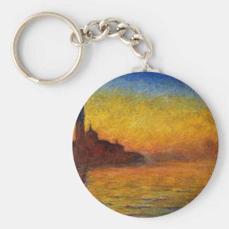 Claude Monet // Venice Twilight Basic Round Button Key Ring