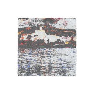 Claude Monet - Vétheuil Stone Magnet