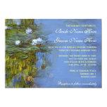Claude Monet vintage waterlily wedding 13 Cm X 18 Cm Invitation Card