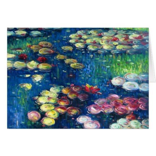 Claude Monet: Water Lilies 3 Card