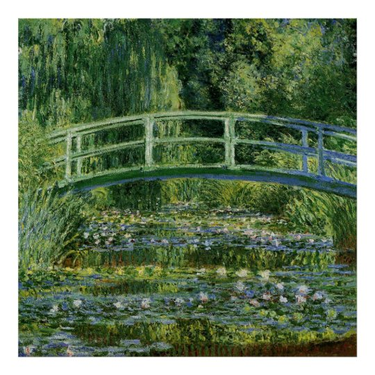 Claude Monet Water Lilies and Japanese Bridge Poster